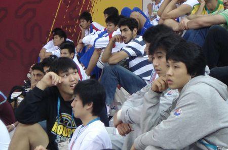 独家图片:中国男篮迎战黎巴嫩 韩国队员