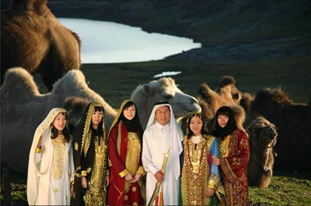 韩乔生变身阿拉伯王子 采访亚运就像重度蜜月