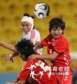 图文:中国女足1-3不敌朝鲜队 李洁血燃战袍