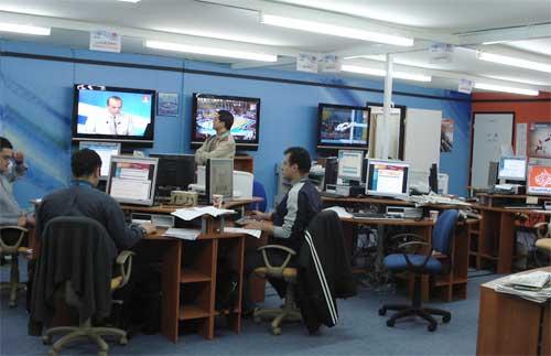 半岛电视台持续追踪刘翔 多哈田径场只剩一大腕