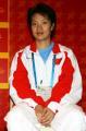 图文:中国跆拳道队将换新装 陈中接受采访