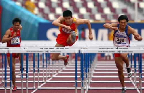 图文:史冬鹏通过男子110米栏预赛 成绩好于刘翔