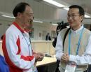 图文:刘鹏到亚运新闻中心看望前方组 再三叮嘱