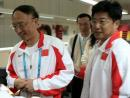 图文:刘鹏到亚运新闻中心看望前方组 圆满落实