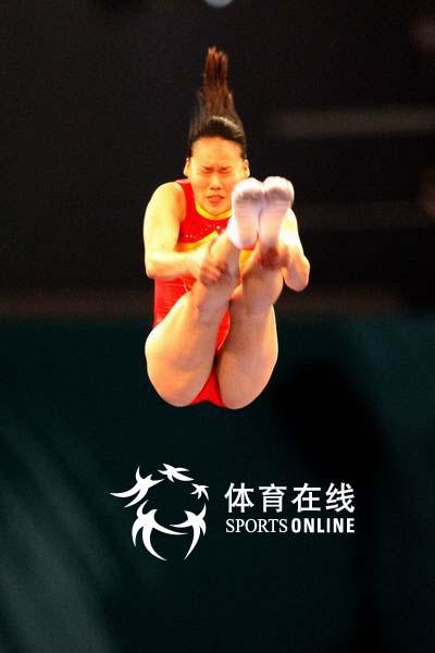 图文:亚运蹦床女子个人赛 黄珊汕比赛精彩瞬间