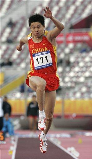 李延熙乾坤一跳过17米 男子三级跳远摘金牌(图)