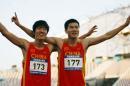图文:刘翔史冬鹏包揽110米栏冠亚军 比翼齐飞
