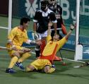 图文:中国男曲2-1胜巴基斯坦 于洋庆祝进球