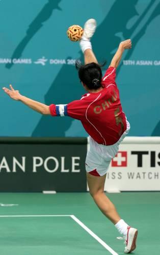 图文:藤球女子二人赛中国2-0菲律宾-流星赶月
