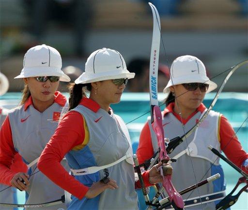中国女将负于亚洲霸主韩国 女子射箭团体摘银
