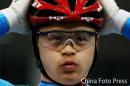 图文:场地自行车男子争先赛 北津留翼夺冠