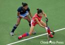 图文:女子曲棍球铜牌争夺战 印度1-0小胜韩国