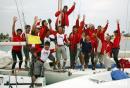 图文:帆船贝内特乌7.5公开级 新加坡队夺冠