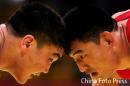 图文:男子自由摔跤96公斤级 王园元无缘决赛