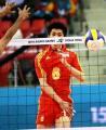 图文:中国男排险胜沙特晋级决赛 网前轻松得分