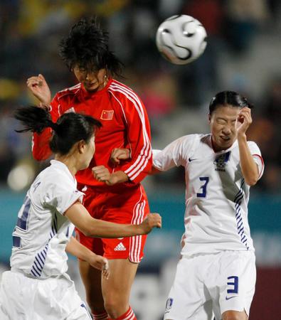 中日韩朝亚洲竞争力分析 亚运铜牌保住女足底线