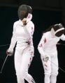 图文:中国获女子重剑团体冠军 有兴奋也有失落