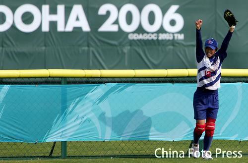 图文:亚运会垒球赛 中国不敌中国台北获得铜牌