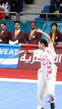 图文:女子长拳3项全能 马灵娟摘中国亚运150金