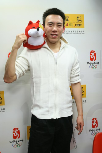 图文:陈祚做客搜狐谈夺金 陈阼问候网友