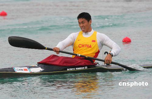 图文:刘海涛获得500米单人皮艇金牌 全力以赴