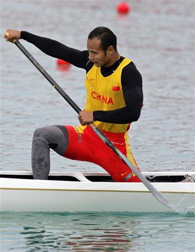 图文:男子划艇单人500米决赛 中国杨文军夺冠