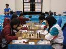 图文:亚运会国际象棋团体赛最后一战 诸宸走棋