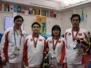 图文:国象团体赛中国队获亚军 中国队赛后合影
