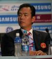 图文:中国代表团举行新闻发布会 蔡振华在现场