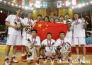 图文:中国男篮59-44击败卡塔尔夺冠 圆满征途