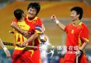 图文:亚运中国男曲1-3韩国 中国队首先得分
