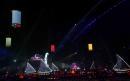 """图文:多哈亚运会闭幕式表演 漫天的""""神灯"""""""