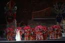 图文:多哈亚运会闭幕式 中华传统戏剧亮相会场
