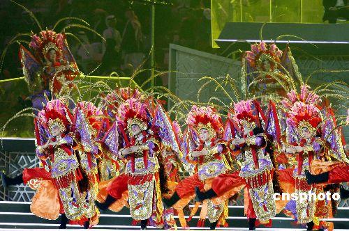 图文:多哈亚运会闭幕式精彩纷呈 东方神韵表演