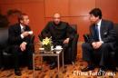 图文:亚洲杯抽签中国战伊朗 中田张吉龙交谈