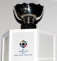 图文:亚洲杯抽签中国C组战伊朗 亚洲杯奖杯