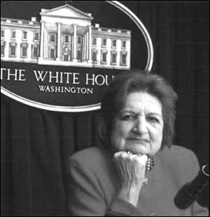 白宫著名记者海伦-托马斯:布什是最糟的总统