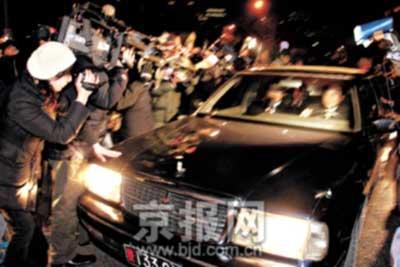 昨日傍晚朝鲜金融专家轿车驶进美国使馆(组图)