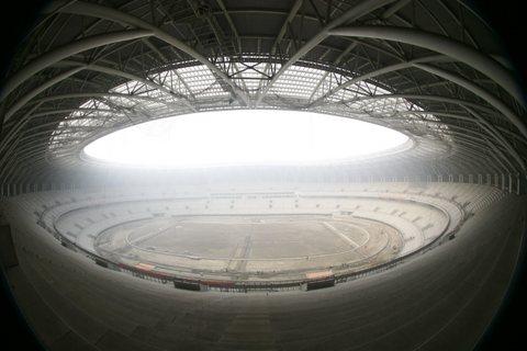 图文:天津奥林匹克体育场竣工 将安装座椅