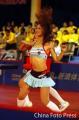 图文:国球大典乒乓球总冠军决赛 宝贝热舞