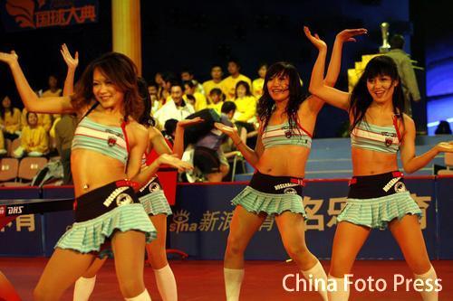 图文:国球大典乒乓球总冠军决赛 激情宝贝