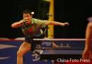 图文:世界乒球总冠军赛男子决赛 王励勤风采