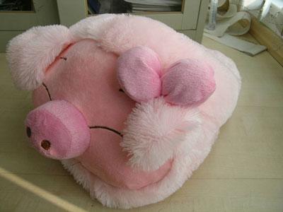 """新年享""""猪""""福  华硕笔记本送麦兜抱枕"""