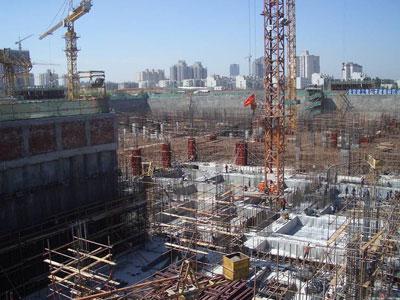 水立方主体混凝土结构完成 施工现场一片忙碌