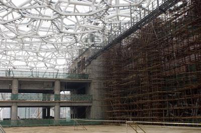 钢结构支撑体系卸载 水立方自主创新蓝图变实体