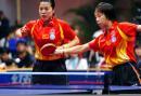图文:中国女队击败世界联队 张怡宁王楠搭档双打