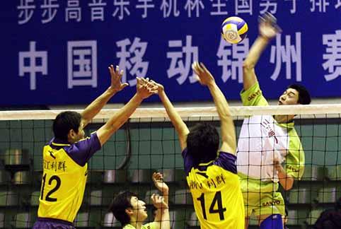 男排联赛第15轮:辽宁3比1浙江 王贺兵承认差距