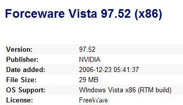 Vista,Forceware