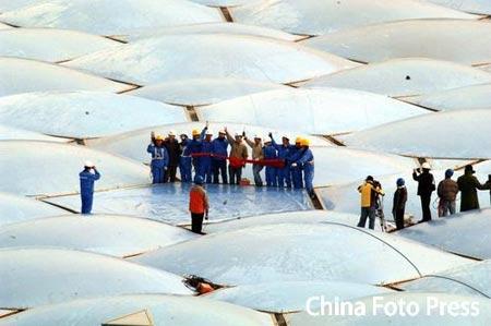 水立方今日完成奥运装 接受捐赠资金6.5亿(图)