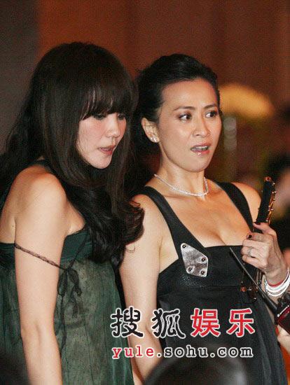 图:王菲与刘嘉玲侃侃而谈